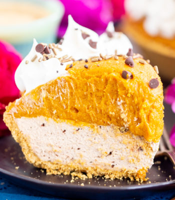 No Bake Pumpkin Spice Latte Cheesecake