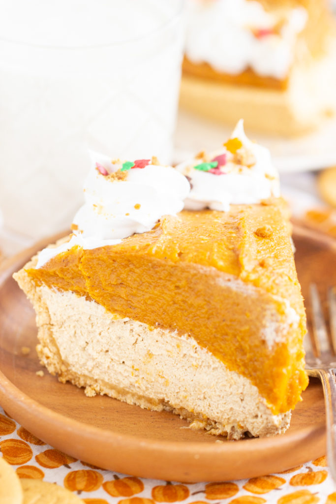 No Bake Pumpkin Gingerbread Cheesecake recipe