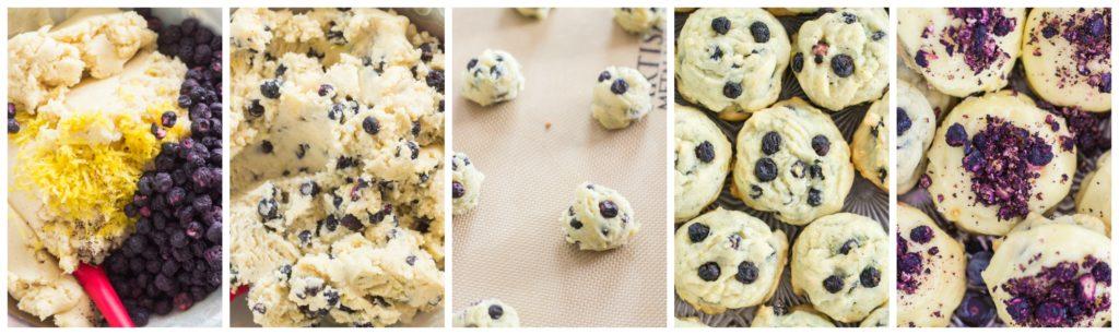 Lemon Blueberry Amish Sugar Cookies